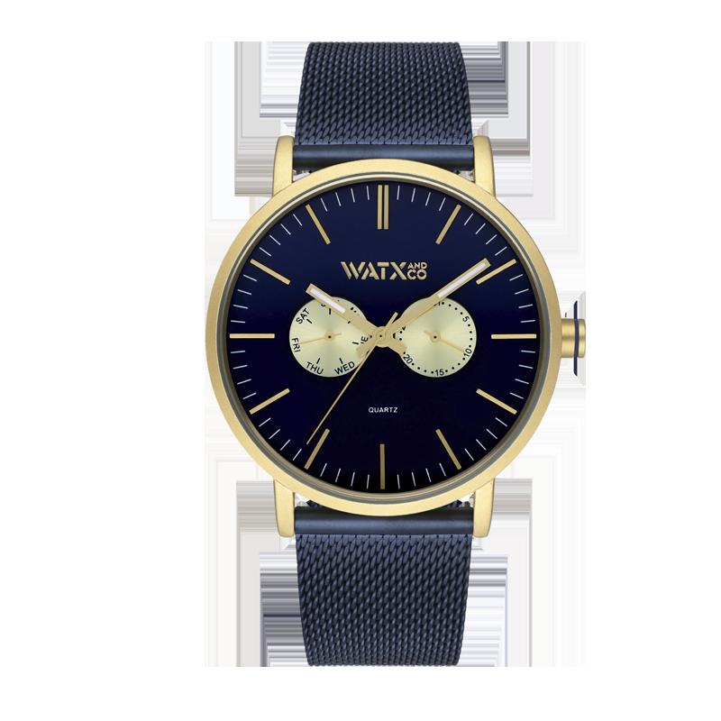 Reloj ANALOGIC BYZ BLUE & GOLD / 44MM