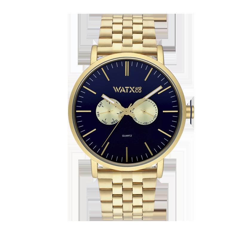 Reloj ANALOGIC BYZ ALL GOLD&BLUE / 44M